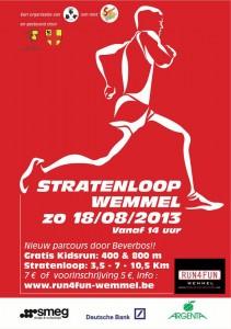 stratenloop 2013 affiche