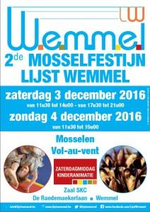 Mosselfestijn Lijst Wemmel 2016